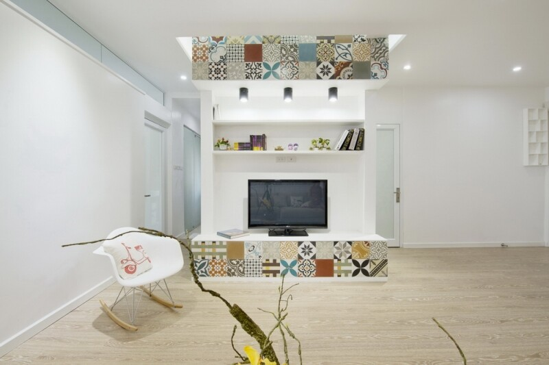Ceramic Tiles Used as a Decorative Material - HT Apartment in Vietnam (9)