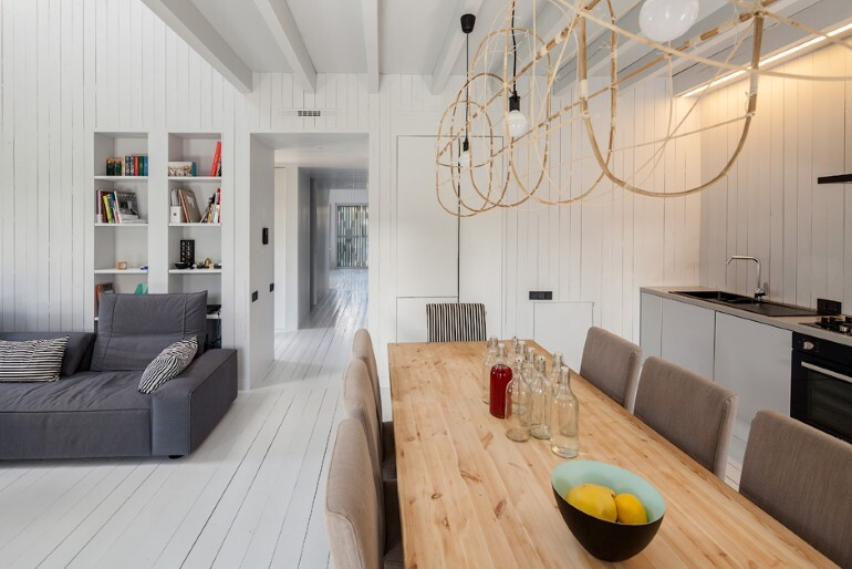 Architect Alexey Ilyin Has Designed for His Family a Wooden Cottage with a Monochrome Design (13)