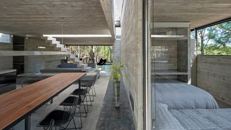 Concrete Holiday Retreat in Argentina by Luciano Kruk (10)