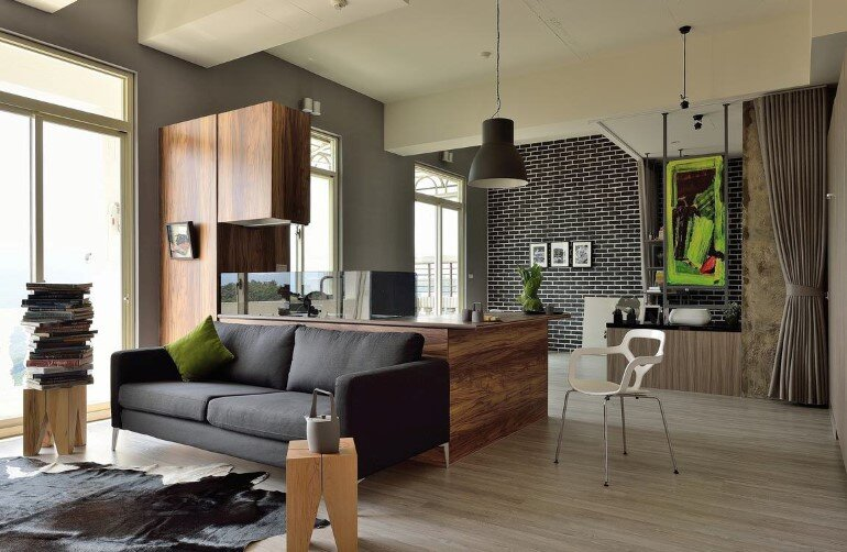 Feast in Green – Functionality And Warmth In a One-Storey Home