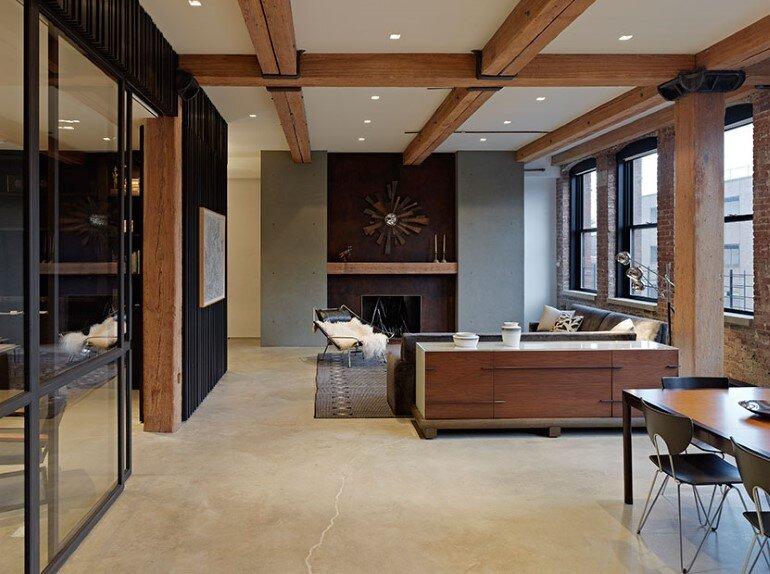 Highline chelsea loft by robertson tait new york for New york loft design