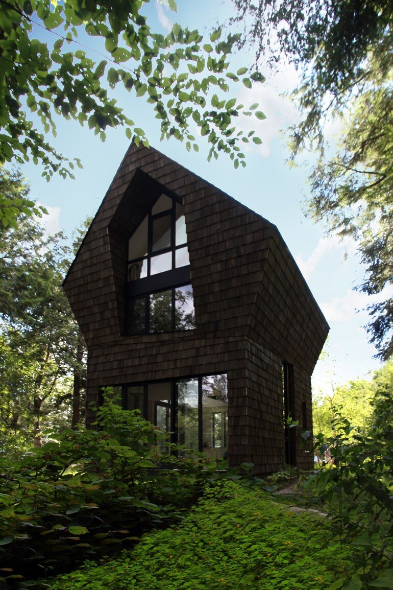 La Colombière Is A Refuge Perched In The Forest Reminding Us Of Bird Huts (14)