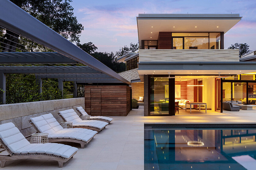 Lake austin house by aamodt plumb architects for Pool design austin