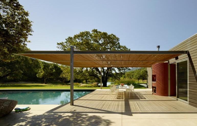 Net-Zero House Designed for OutdoorIndoor Summer Living - Sonoma Residence (12)