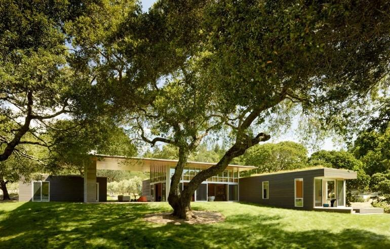 Net-Zero House Designed for OutdoorIndoor Summer Living - Sonoma Residence (2)
