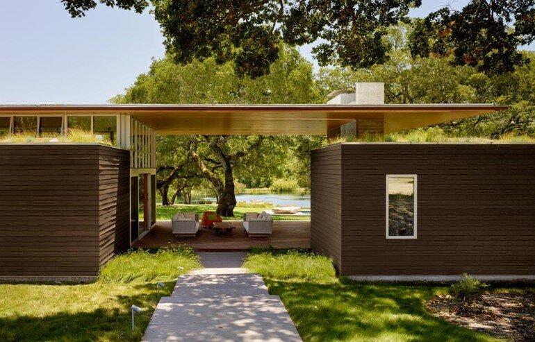 Net-Zero House Designed for OutdoorIndoor Summer Living - Sonoma Residence (3)