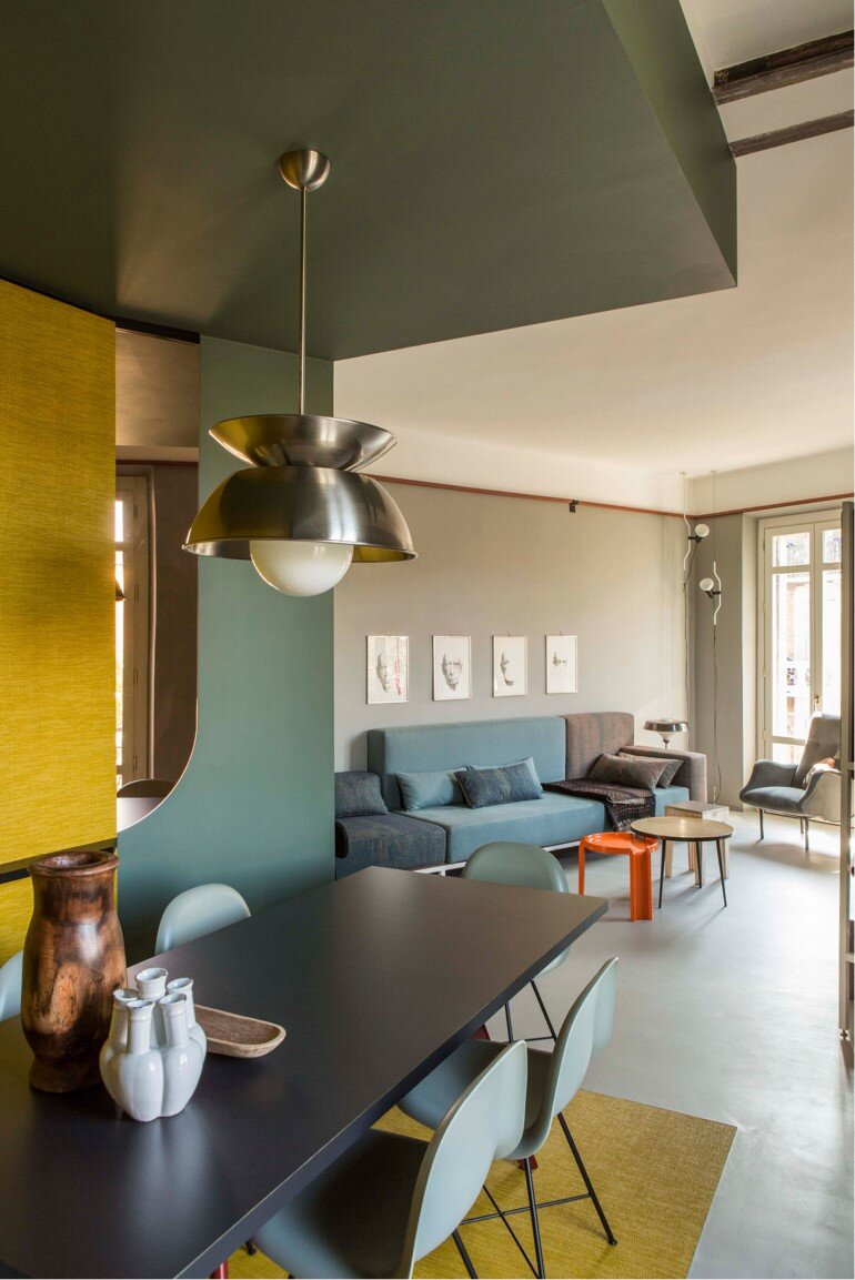 Promenade Apartment - Yellow and Gray Colors Give a True Retro Touch (1)