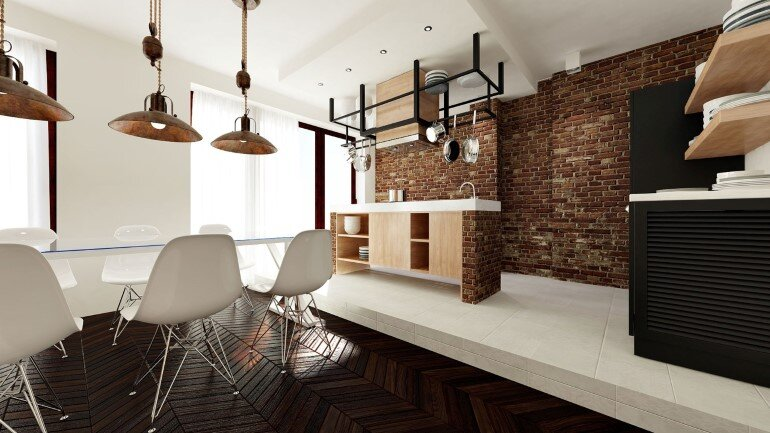 Two Apartments Merged In An Industrial Style (2)