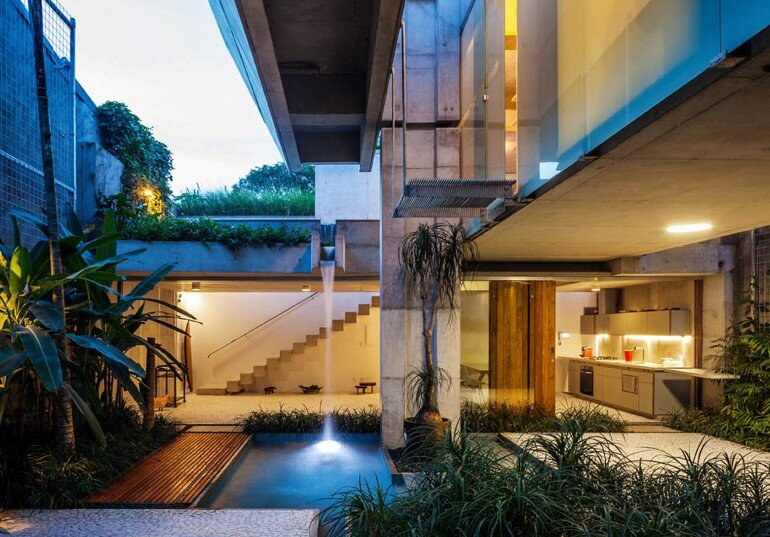 Concrete Weekend House in Downtown São Paulo (23)
