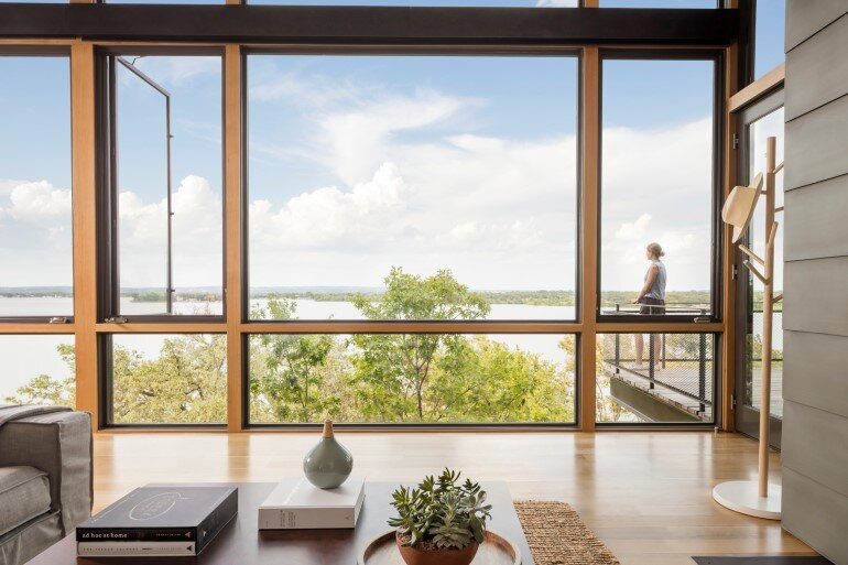 Lakeside House rises above the trees for 180-degree views (5)