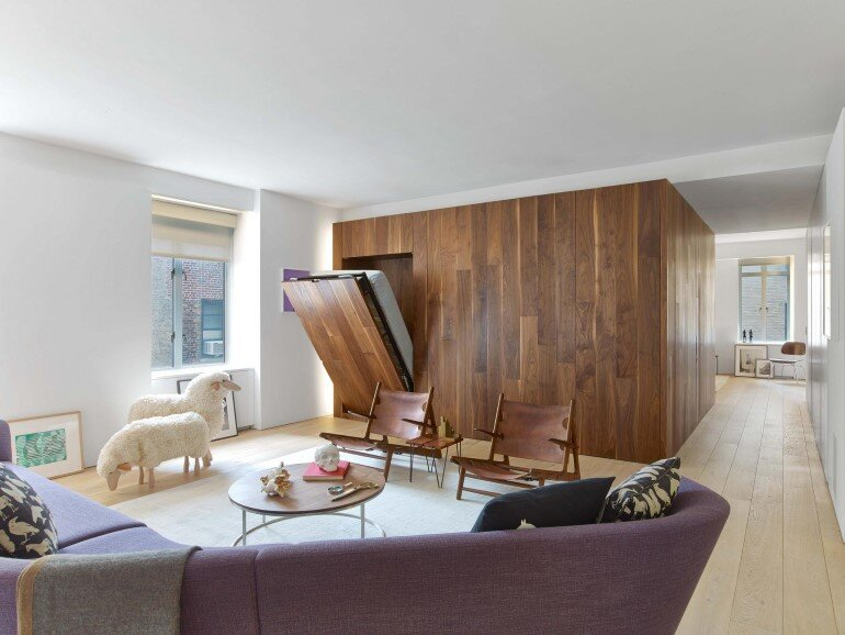 Minimalist Design and Organic Touches in Central Park West Apartment (2)