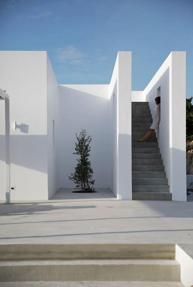 modern and minimalist house on the island of paros greece