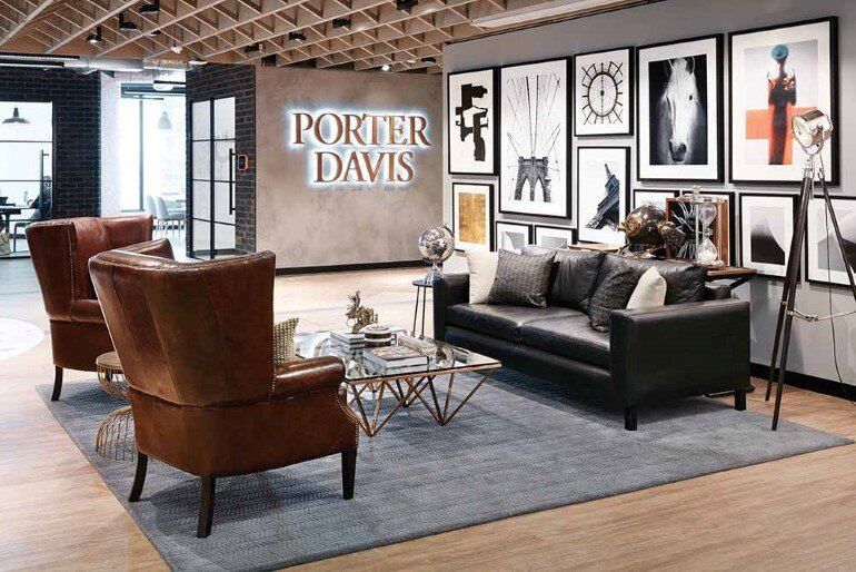 New office space for porter davis a housing company in for Office space design companies