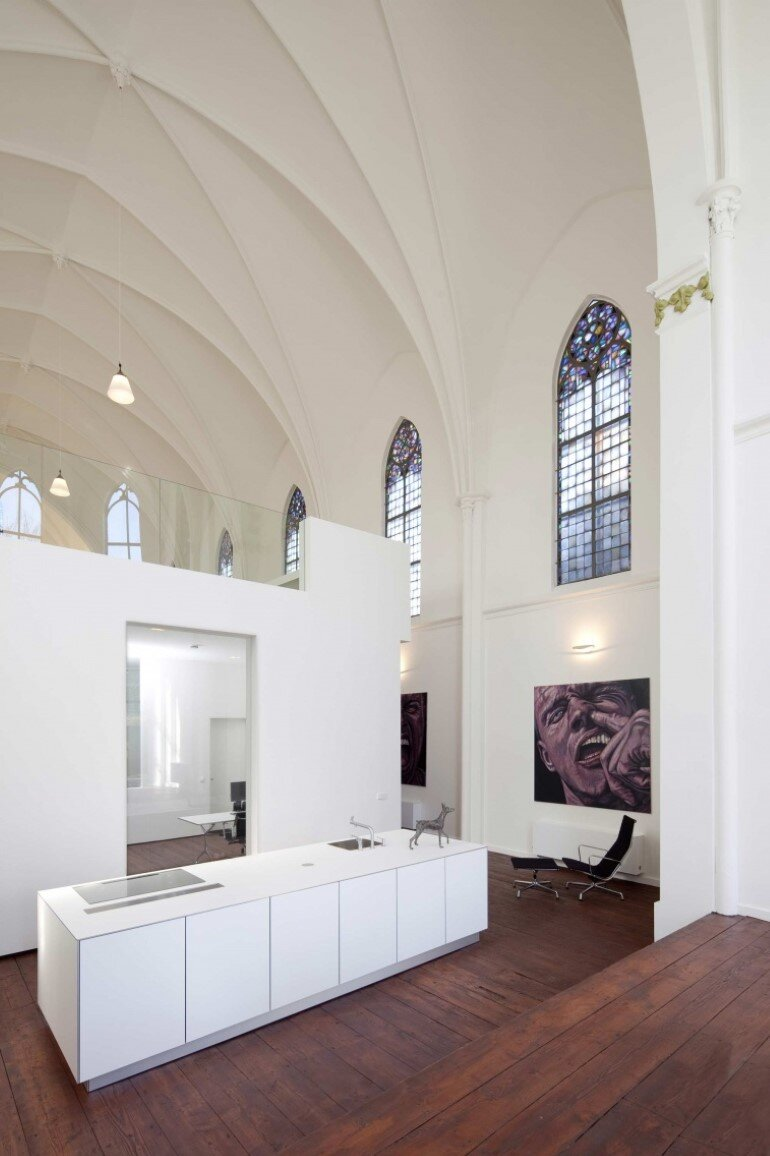 Old Catholic Church Converted into a Spacious House (13)