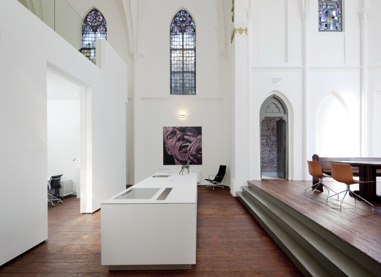 Old Catholic Church Converted into a Spacious House (2)