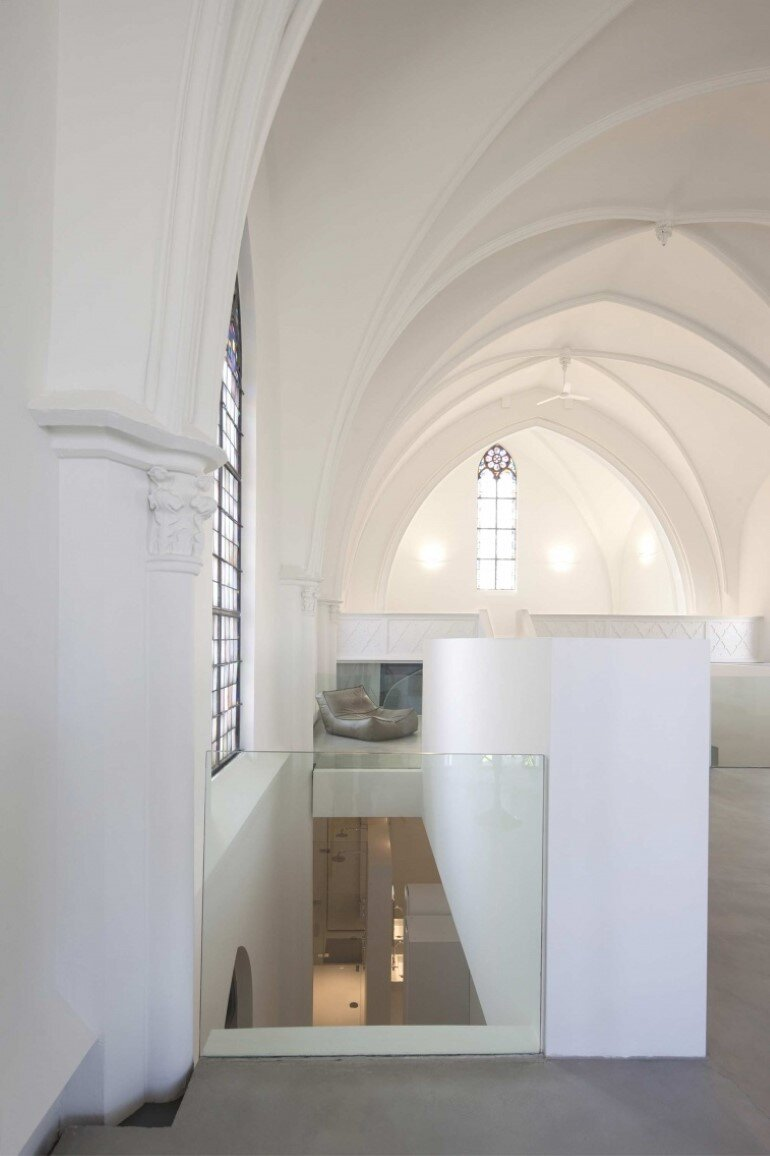 Old Catholic Church Converted Into A Spacious House
