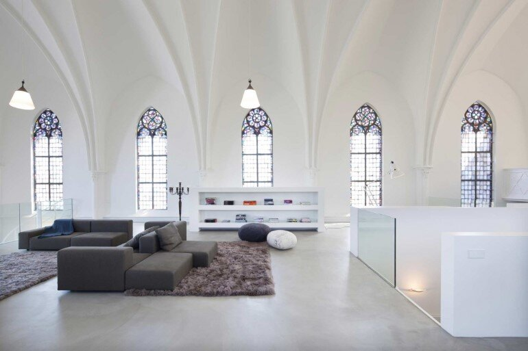 Old Catholic Church Converted into a Spacious House (9)