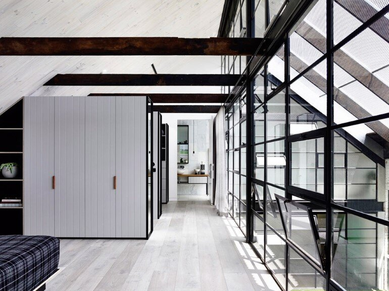 Old Industrial Warehouse Converted into a Two-Story Family Home (3)