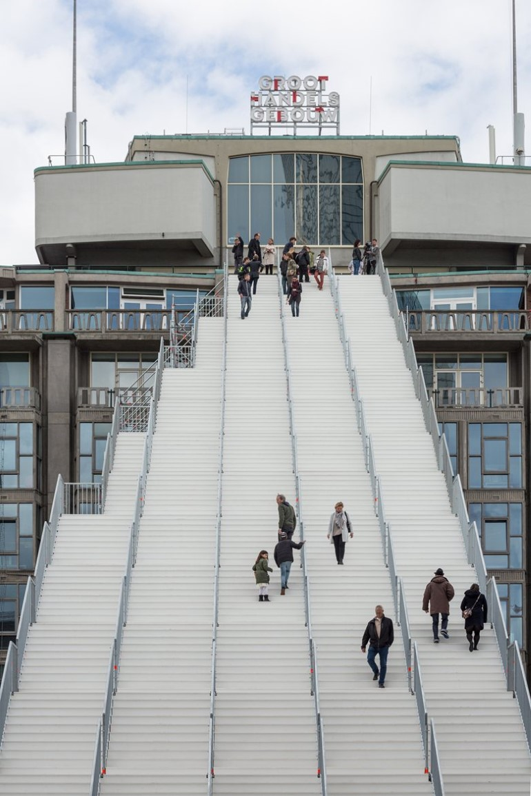 Scaffolding Structure - The  Stairs to Kriterion in Rotterdam (3)