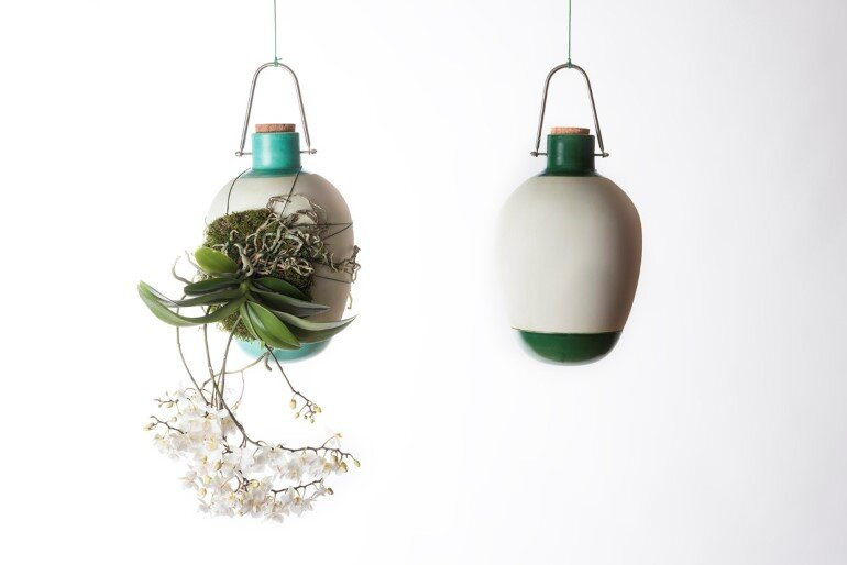 Aerial Ceramic Vases for Indoor Epiphytic House-Plants (1)