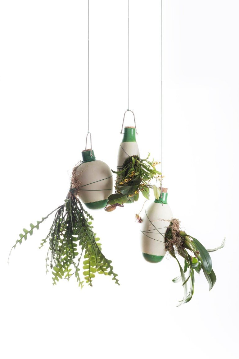 Aerial Ceramic Vases for Indoor Epiphytic House-Plants (2)