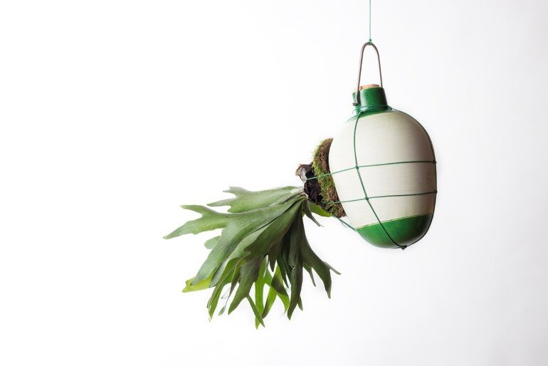 Aerial Ceramic Vases for Indoor Epiphytic House-Plants (5)