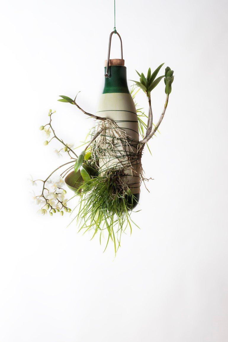 Aerial Ceramic Vases for Indoor Epiphytic House-Plants (7)