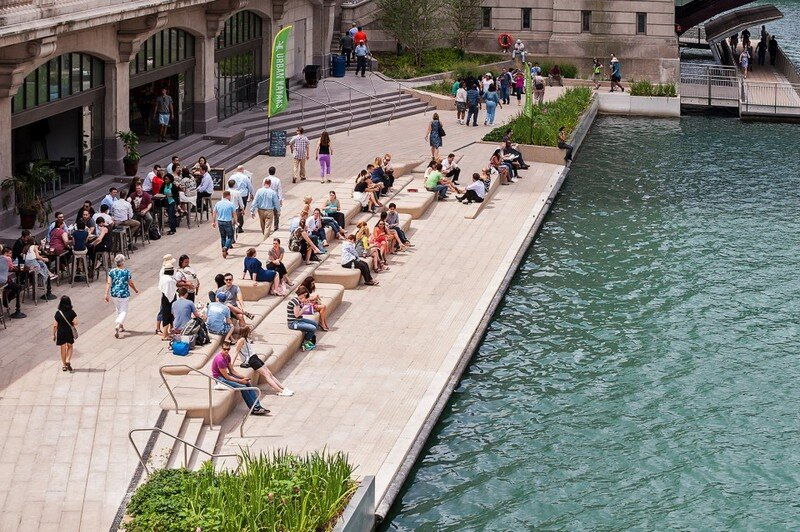 Chicago Riverwalk by Sasaki Associates (14)
