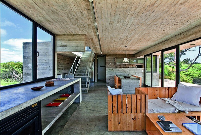 Concrete Beach House With Industrial Features (14)