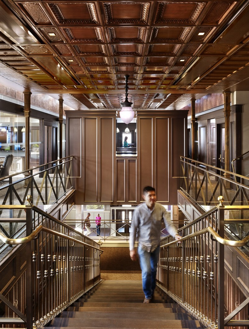 Historic Bank Building Converted into Modern Office Space (11)