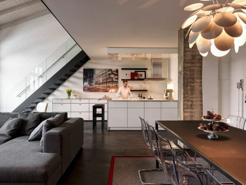 Industrial Apartment in Zurich by Daniele Claudio Taddei Architect