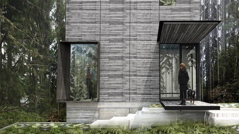 Little House Wrapped in Blackened Timber - MW Works (10)