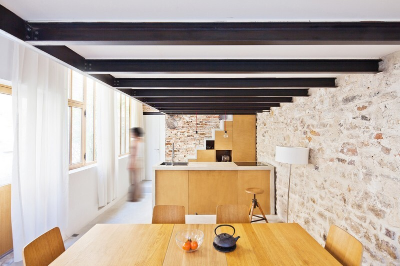 Reconstruction of the Artist's Studio in a Residential Loft, Paris (3)