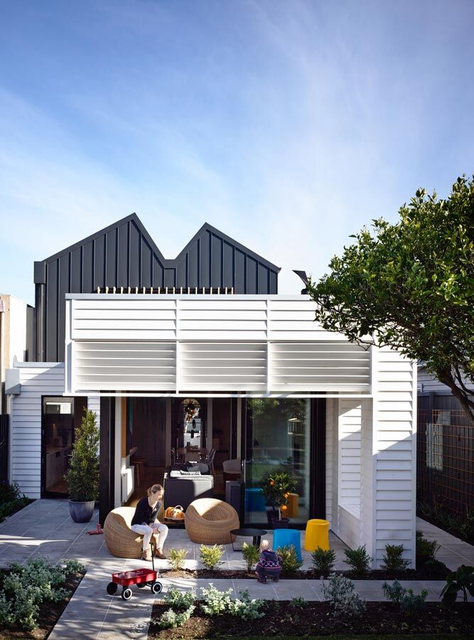 Sandringham house double fronted weatherboard converted for Weatherboard house designs