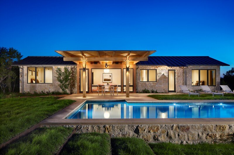 Spicewood ranch in texas hill country for Texas hill country home designs