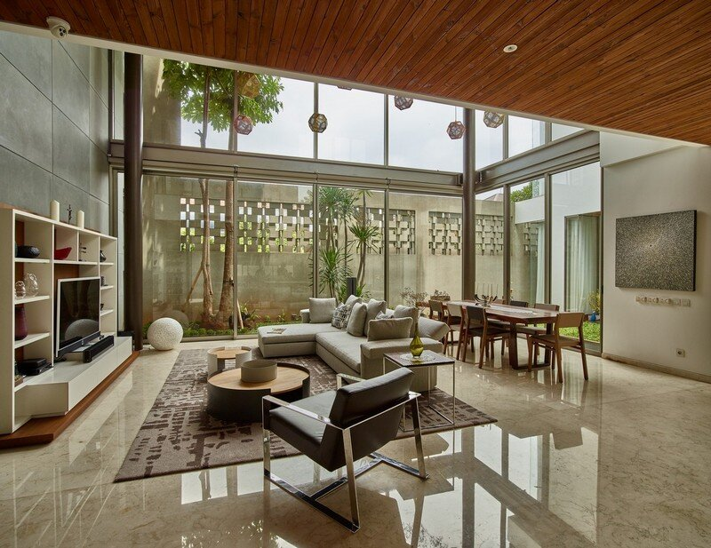 Tropical open house in jakarta indonesia raw architecture for House interior design jakarta