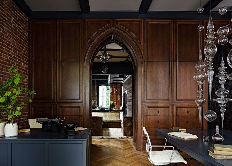 Gothic Office in an 1870s Historic Gothic Revival Building (3)