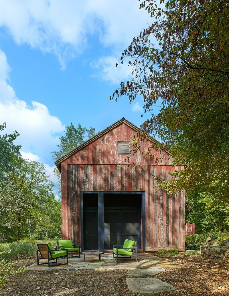 Red Barn at Hazel River Cabin Bonstra Haresign Architects 3