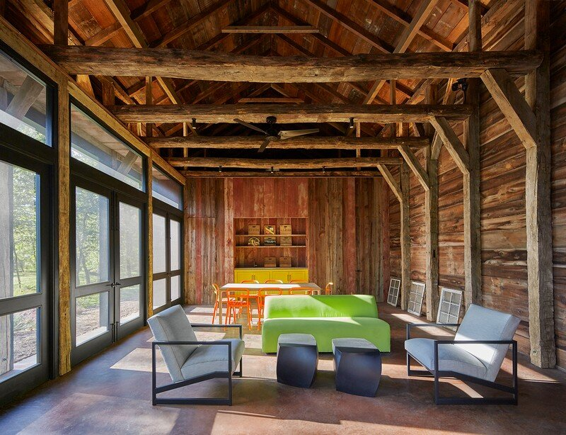 Red Barn at Hazel River Cabin Bonstra Haresign Architects 4