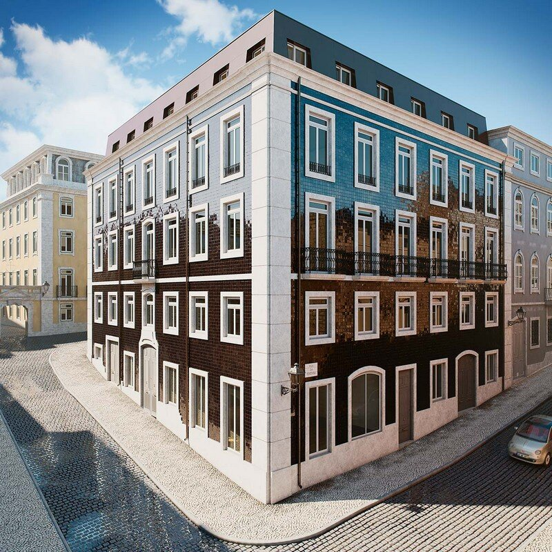 Architectural Rendering of Apartments in Lisbon Berga and González Architects (10)