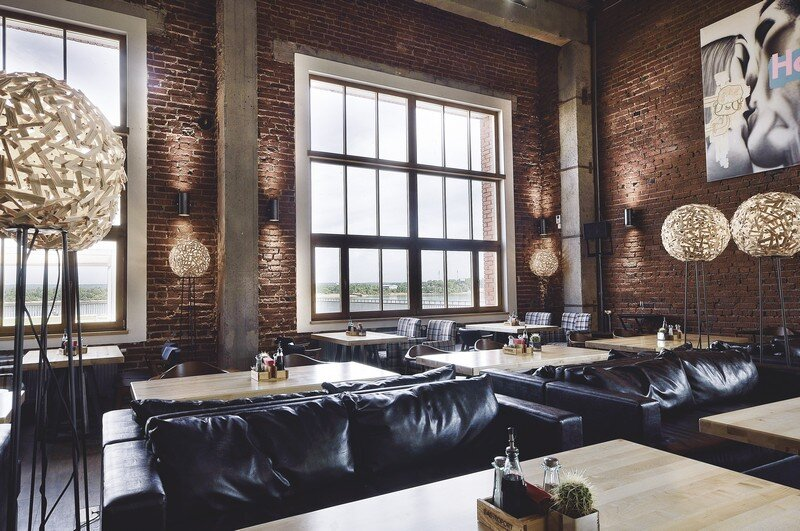 Gastroport Restaurant Designed with a Industrial Footprint by Allartsdesign