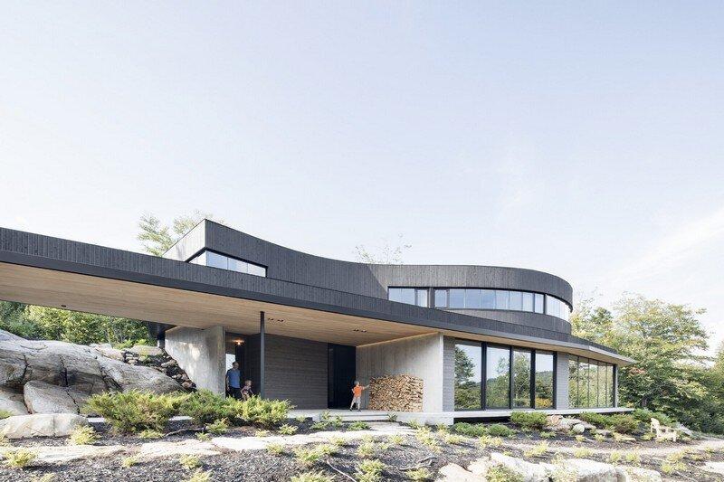La Héronnière - Low Impact House Design by Alain Carle Architect (1)
