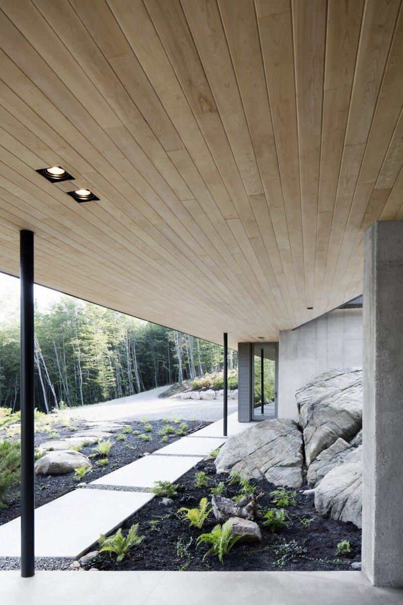 La Héronnière - Low Impact House Design by Alain Carle Architect (5)
