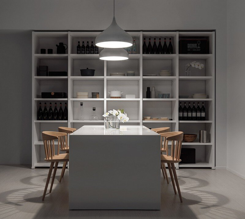 Minimalist White Apartment - Tsai Residence by Tai & Architectural Design (15)