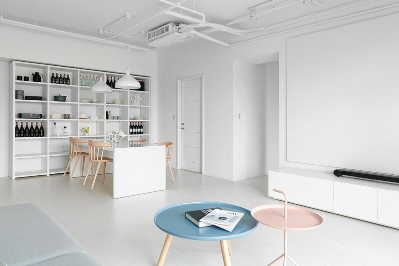 Minimalist White Apartment – Tsai Residence by Tai & Architectural Design