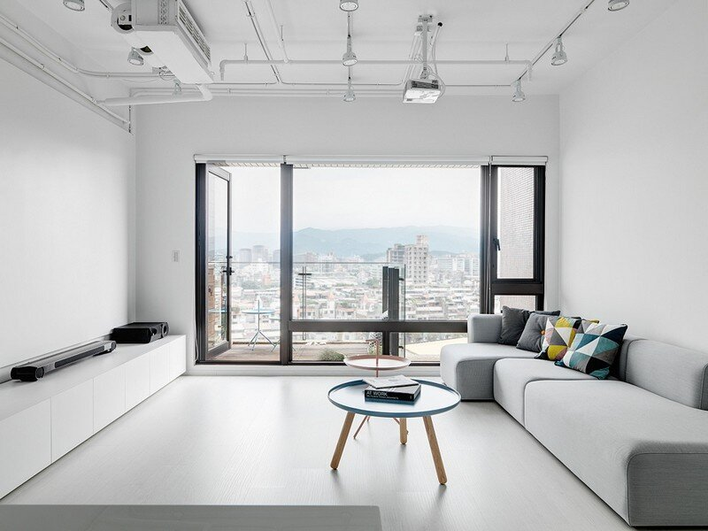 Minimalist White Apartment - Tsai Residence by Tai & Architectural Design (5)