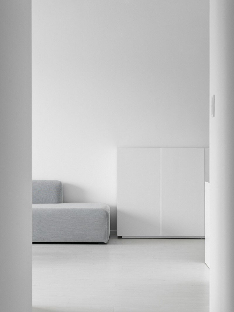 Minimalist White Apartment Tsai Residence By Tai