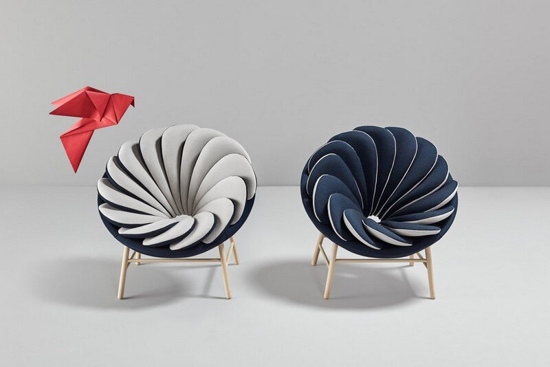 Quetzal Armchair - 14 Overlapped Bicolor Pillows Creates an Amazing Visual Impact (3)
