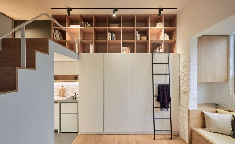 Renovation of a 22 sqm Old Flat in Taipei City A Little Design Studio (13)