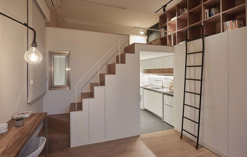 Renovation of a 22 sqm Old Flat in Taipei City A Little Design Studio (18)